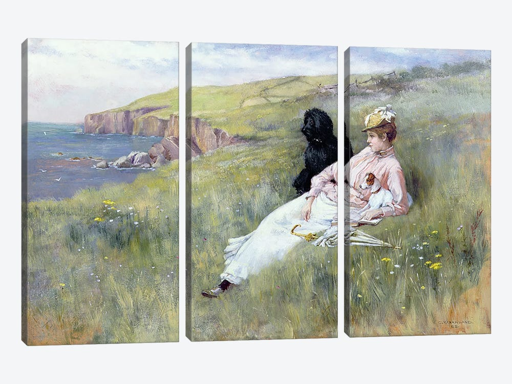Sea Dreams, 1888 by Charles Trevor Garland 3-piece Canvas Wall Art