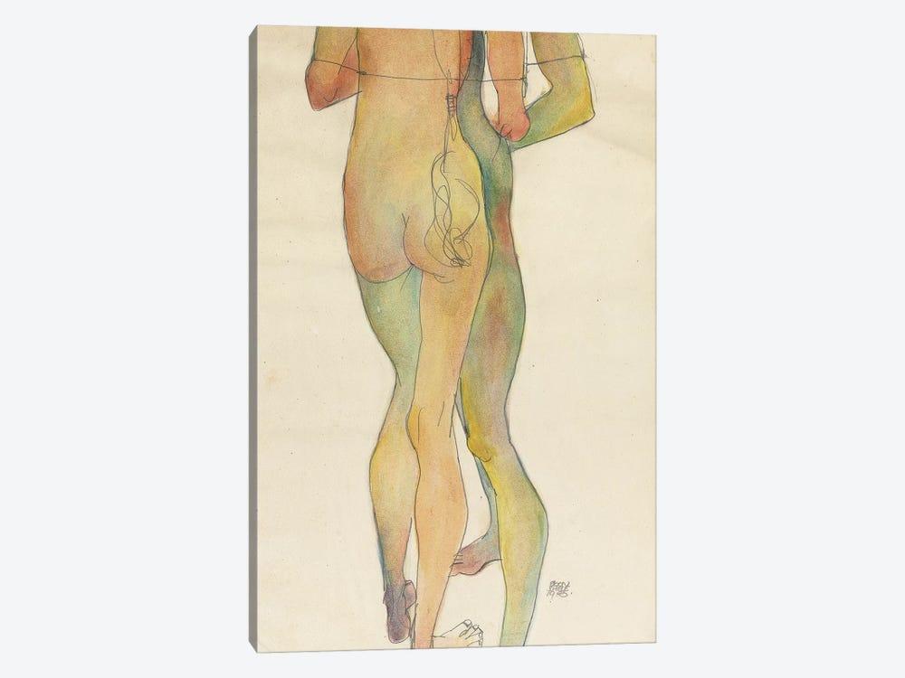 Zwei Stehende Akte, 1913  by Egon Schiele 1-piece Canvas Art Print