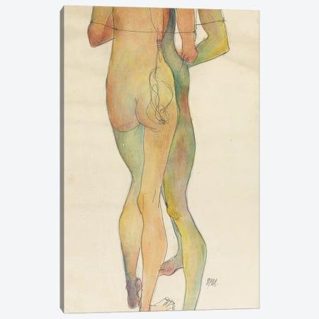 Zwei Stehende Akte, 1913  Canvas Print #BMN10191} by Egon Schiele Canvas Print