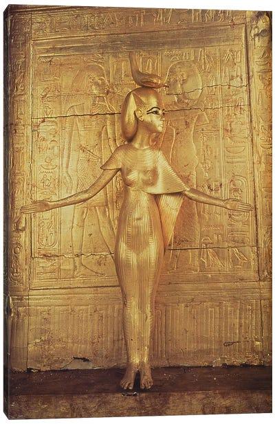 The goddess Selket on the canopic shrine, from the Tomb of Tutankhamun  New Kingdom   Canvas Art Print