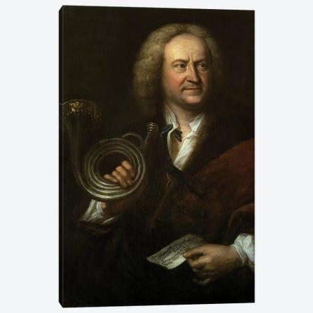 Gottfried Reiche , Senior Musician and Solo Trumpeter of Bach's Orchestra Canvas Print #BMN10194} by Elias Gottleib Haussmann Canvas Artwork
