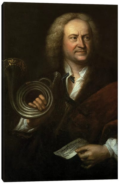 Gottfried Reiche , Senior Musician and Solo Trumpeter of Bach's Orchestra Canvas Art Print