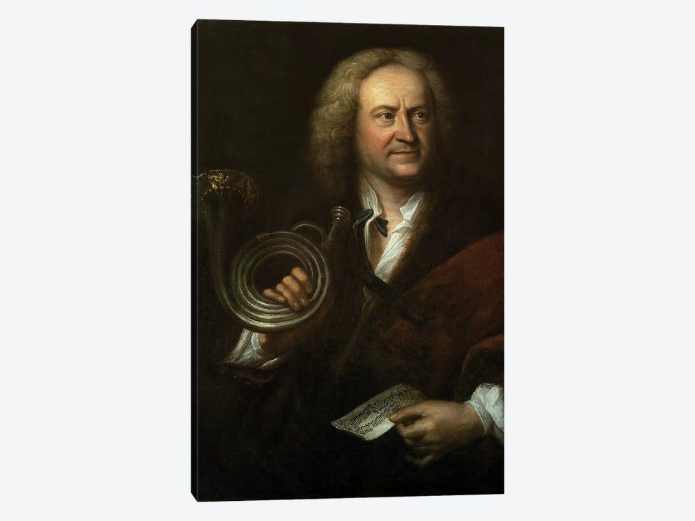 Gottfried Reiche , Senior Musician and Solo Trumpeter of Bach's Orchestra by Elias Gottleib Haussmann 1-piece Canvas Artwork