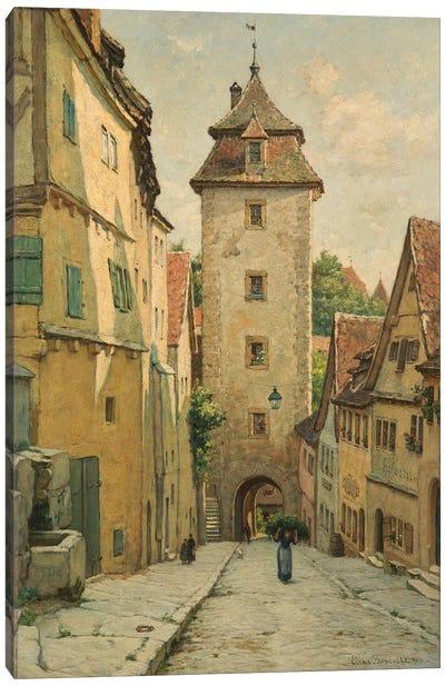 Rothenburg ob der Tauber, Bavaria, Germany, 1903  Canvas Art Print