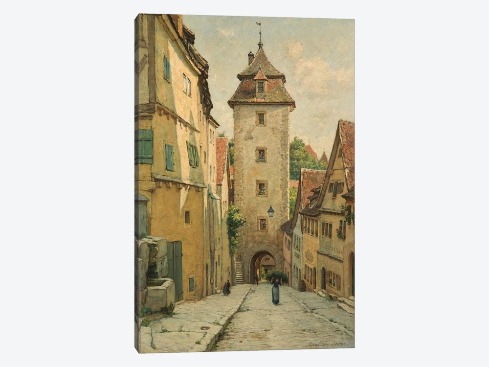 Rothenburg ob der Tauber, Bavaria, Germany, 1903  by Elias Mollineaux Bancroft 1-piece Canvas Artwork