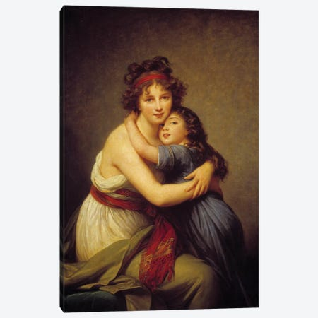 Portrait of Madame Vigee Lebrun and her daughter Jeanne-Lucie-Louise, known as Julie  Canvas Print #BMN10198} by Elisabeth Louise Vigee Le Brun Art Print