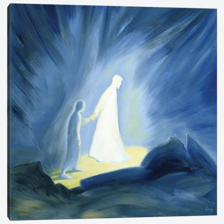 Even in the darkness of our sufferings Jesus comforts and guides us, 1994  Canvas Print #BMN10201} by Elizabeth Wang Canvas Art Print