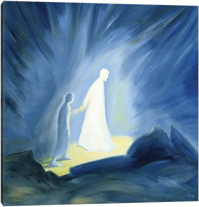 Even in the darkness of our sufferings Jesus comforts and guides us, 1994  Canvas Art Print