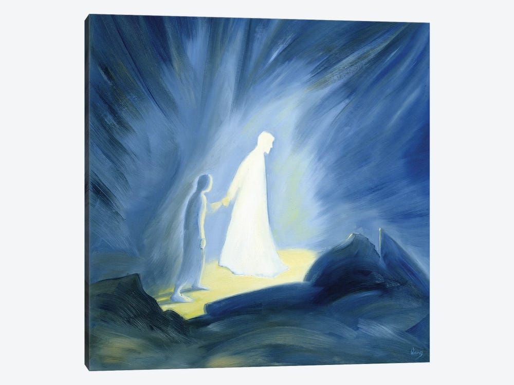 Even in the darkness of our sufferings Jesus comforts and guides us, 1994  by Elizabeth Wang 1-piece Canvas Wall Art