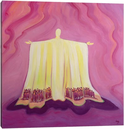 Jesus Christ is like a tent which shelters us in life's desert, 1993  Canvas Art Print