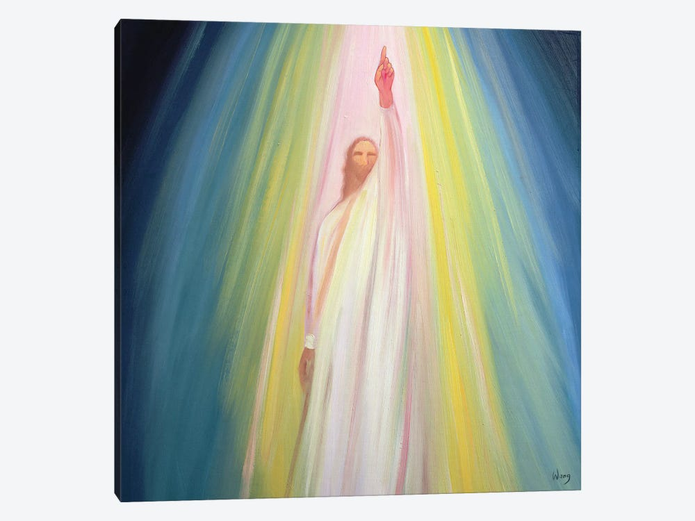 Jesus Christ points us to God the Father, 1995  by Elizabeth Wang 1-piece Canvas Art