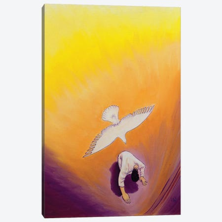 The same Spirit who comforted Christ in Gethsemane can console us, 2000  Canvas Print #BMN10208} by Elizabeth Wang Canvas Print