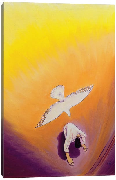 The same Spirit who comforted Christ in Gethsemane can console us, 2000  Canvas Art Print