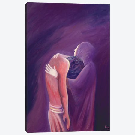 The sorrowful Virgin Mary holds her Son Jesus after His death, 1994  Canvas Print #BMN10209} by Elizabeth Wang Art Print