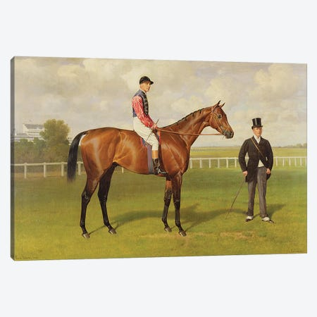 Persimmon', Winner of the 1896 Derby, 1896   Canvas Print #BMN10211} by Emil Adam Canvas Wall Art