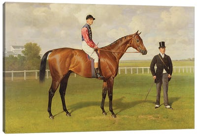 Persimmon', Winner of the 1896 Derby, 1896   Canvas Art Print