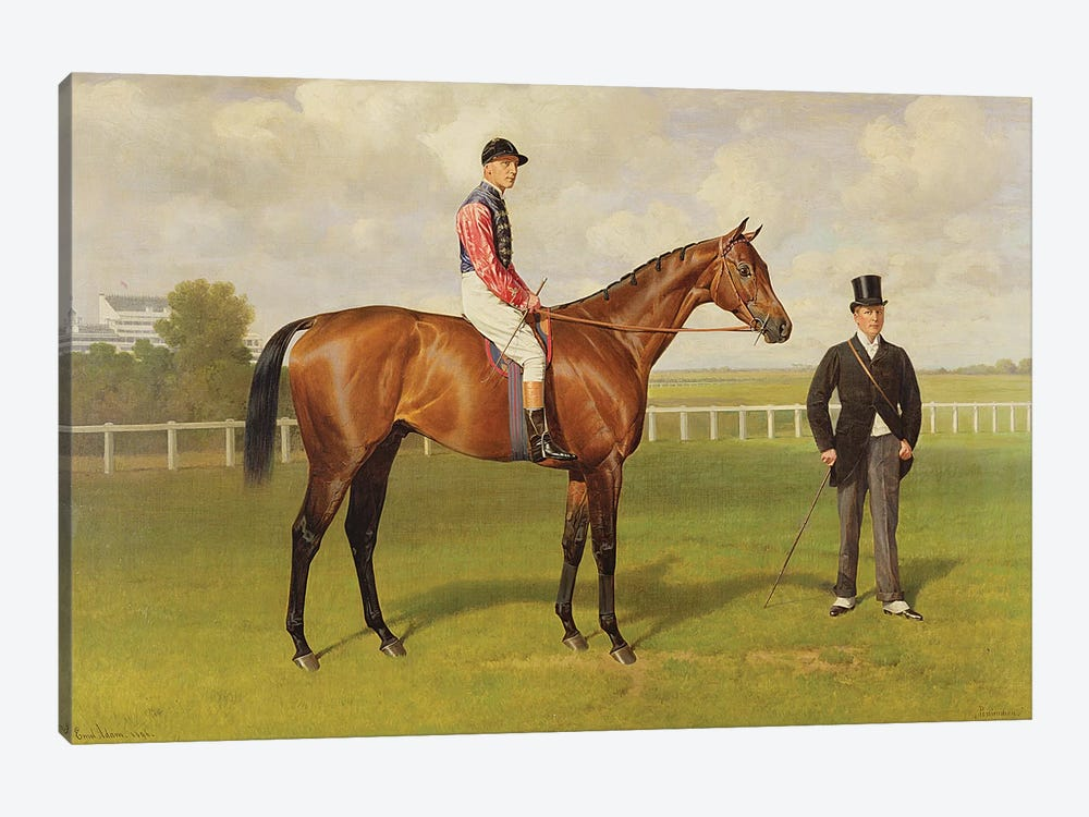 Persimmon', Winner of the 1896 Derby, 1896   by Emil Adam 1-piece Canvas Print