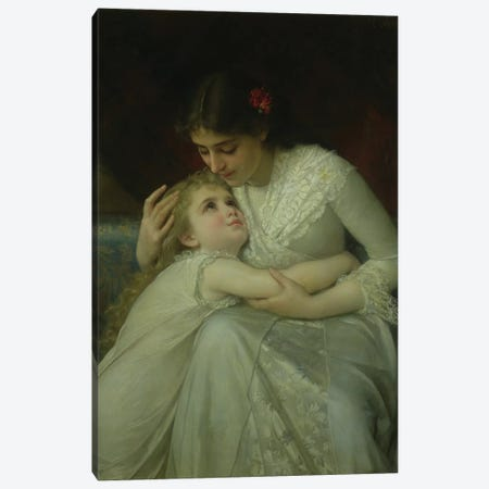 Mother and Child  Canvas Print #BMN10215} by Emile Munier Art Print