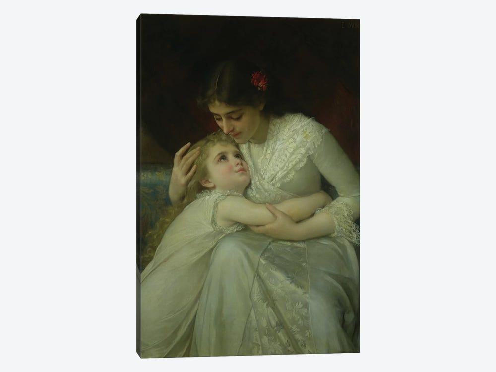 Mother and Child  by Emile Munier 1-piece Canvas Print