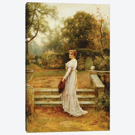 A Stroll in the Garden,  Canvas Print #BMN10216} by Ernest Walbourn Art Print