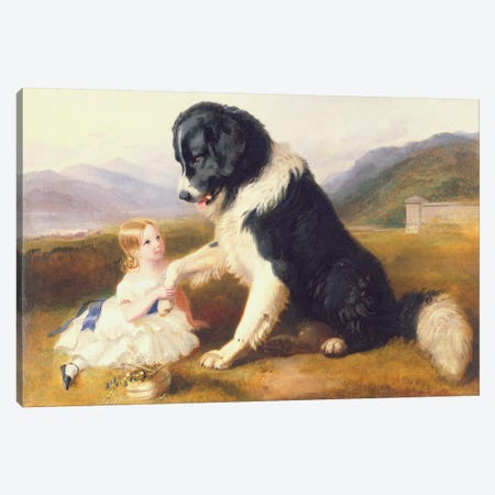 Faithful Friends Canvas Print #BMN1021} by English School Canvas Wall Art