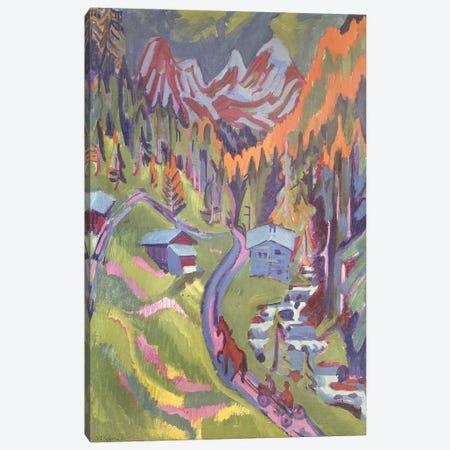 The Sertig Path in Summer, 1924  Canvas Print #BMN10224} by Ernst Ludwig Kirchner Canvas Wall Art