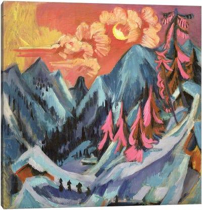 Winter Landscape in Moonlight, 1919  Canvas Art Print