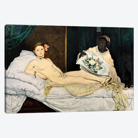 Olympia, 1863 Canvas Print #BMN1022} by Edouard Manet Canvas Artwork