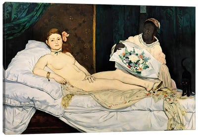 Olympia, 1863 by Edouard Manet Canvas Artwork