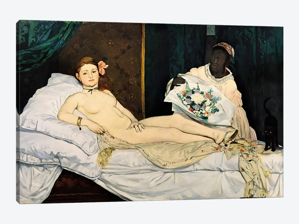 Olympia, 1863 by Edouard Manet 1-piece Canvas Art Print