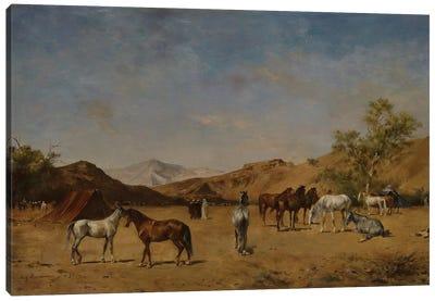 An Arabian Camp, 1873  Canvas Art Print