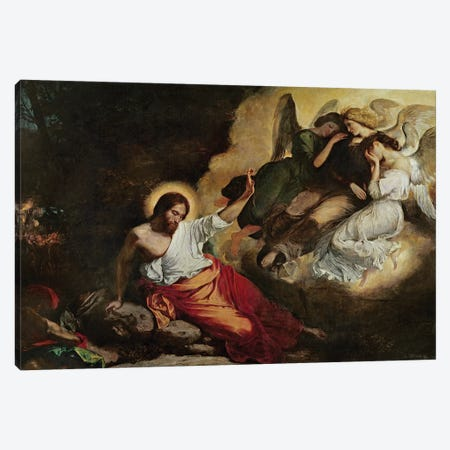 Christ in the Garden of Olives, 1827  Canvas Print #BMN10236} by Ferdinand Victor Eugene Delacroix Art Print