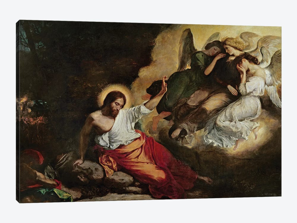 Christ in the Garden of Olives, 1827  by Ferdinand Victor Eugene Delacroix 1-piece Canvas Art