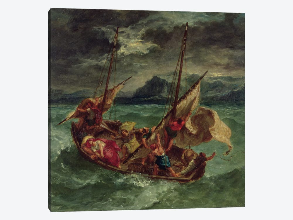 Christ on the Sea of Galilee, 1854  by Ferdinand Victor Eugene Delacroix 1-piece Canvas Print