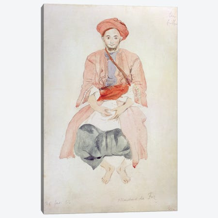 Fez Vendor, 1834  Canvas Print #BMN10240} by Ferdinand Victor Eugene Delacroix Canvas Art Print