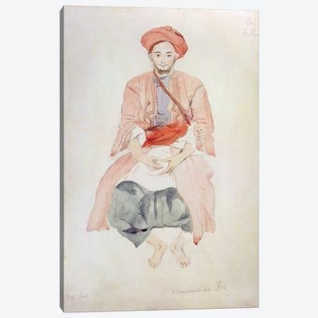 Fez Vendor, 1834  Canvas Print #BMN10240} by Ferdinand Victor Eugene Delacroix Canvas Art Print