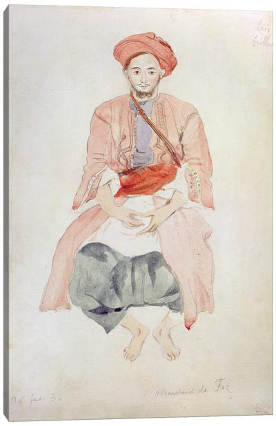 Fez Vendor, 1834  Canvas Art Print