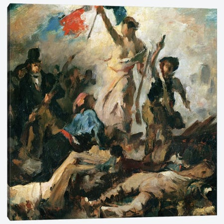 Study for Liberty Leading the People  Canvas Print #BMN10242} by Ferdinand Victor Eugene Delacroix Canvas Art Print