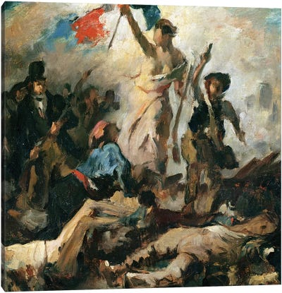 Study for Liberty Leading the People  Canvas Art Print