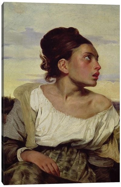 Young Orphan in the Cemetery, 1824  Canvas Art Print