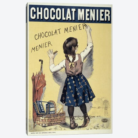 Poster advertising Chocolat Menier, 1893  Canvas Print #BMN10249} by Firmin Bouisset Canvas Print