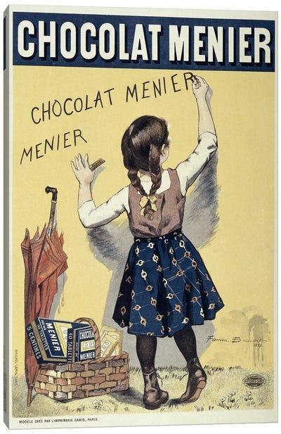 Poster advertising Chocolat Menier, 1893  Canvas Art Print