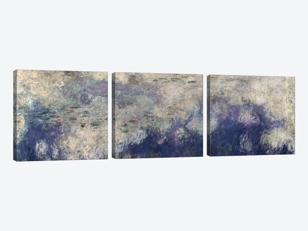 The Waterlilies - The Clouds by Claude Monet 3-piece Canvas Art Print