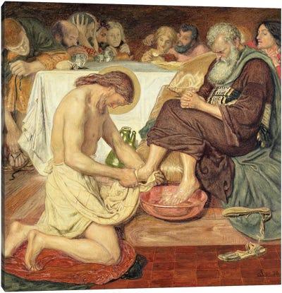 Jesus Washing Peter's Feet, 1876  Canvas Art Print