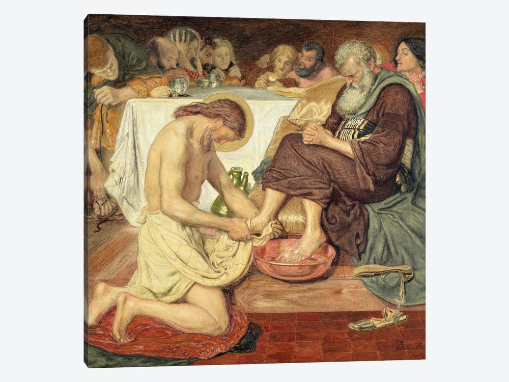 Jesus Washing Peter's Feet, 1876  by Ford Madox Brown 1-piece Canvas Artwork