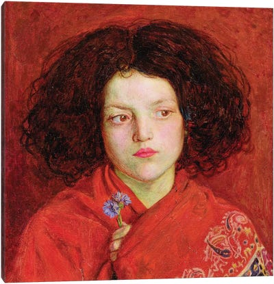 The Irish Girl, 1860  Canvas Art Print