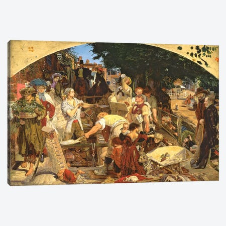 Work', 1852-65   Canvas Print #BMN10258} by Ford Madox Brown Canvas Art