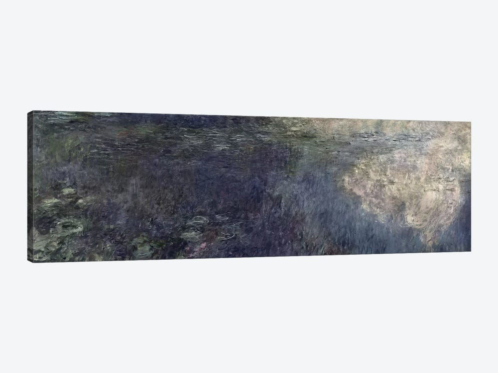 Waterlilies - The Clouds  by Claude Monet 1-piece Canvas Wall Art