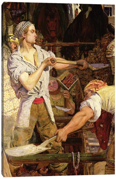 Work: Workman with Carnation in his Mouth, 1852-65   Canvas Art Print