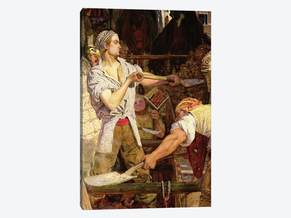Work: Workman with Carnation in his Mouth, 1852-65   by Ford Madox Brown 1-piece Art Print